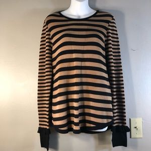 Cabi Sweater With Ruffle at Sleeves